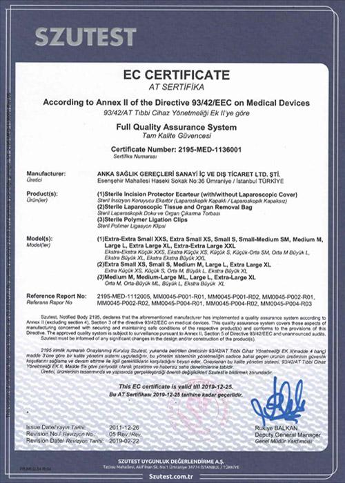EC Sertifikası