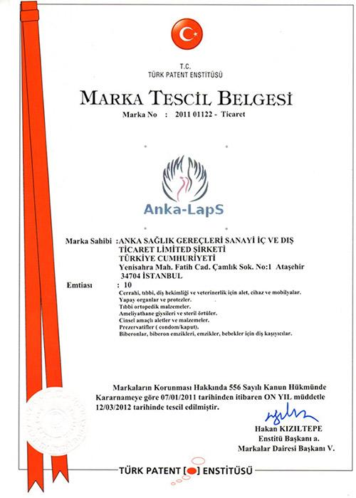 Türk Patent Enstitüsü Marka Tescil Belgesi